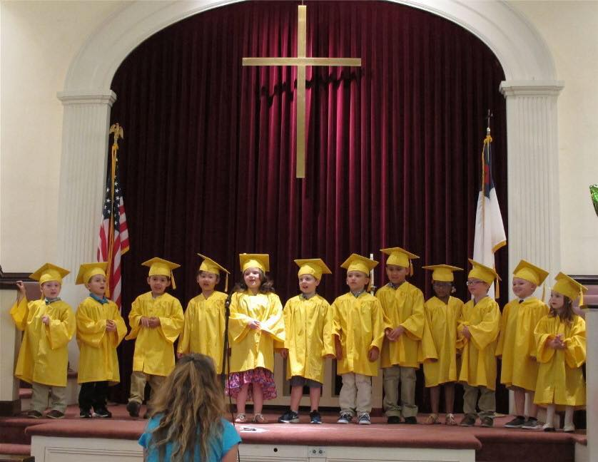 preschool children at graduation